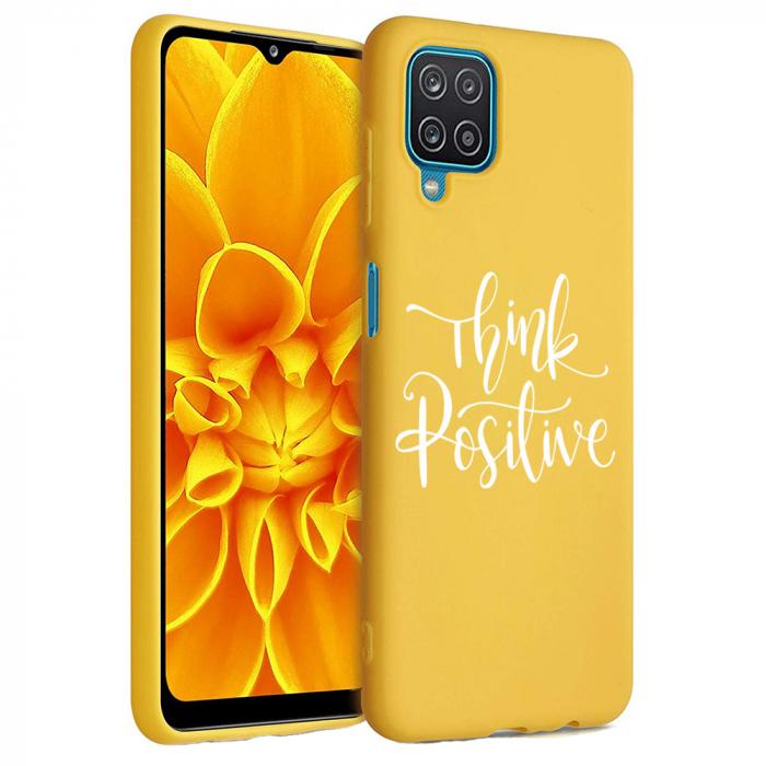Husa Samsung Galaxy A12 - A42  - Silicon Matte - Think positive [1]