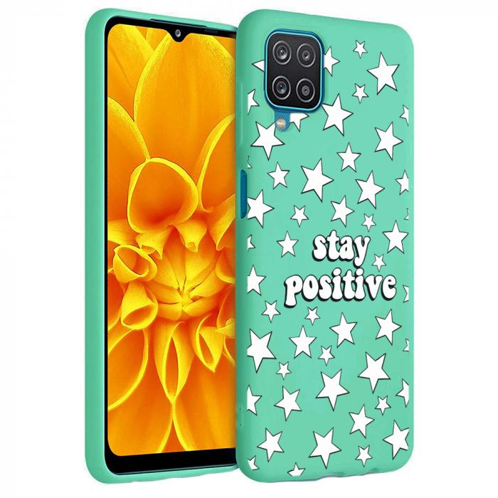 Husa Samsung Galaxy A12 - A42  - Silicon Matte - Stay Positive 2 [3]