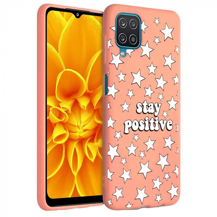 Husa Samsung Galaxy A12 - A42  - Silicon Matte - Stay Positive 2 [5]