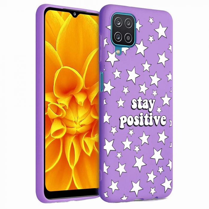 Husa Samsung Galaxy A12 - A42  - Silicon Matte - Stay Positive 2 [4]