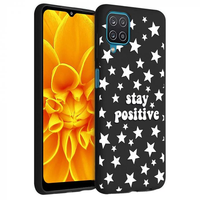 Husa Samsung Galaxy A12 - A42  - Silicon Matte - Stay Positive 2 [2]