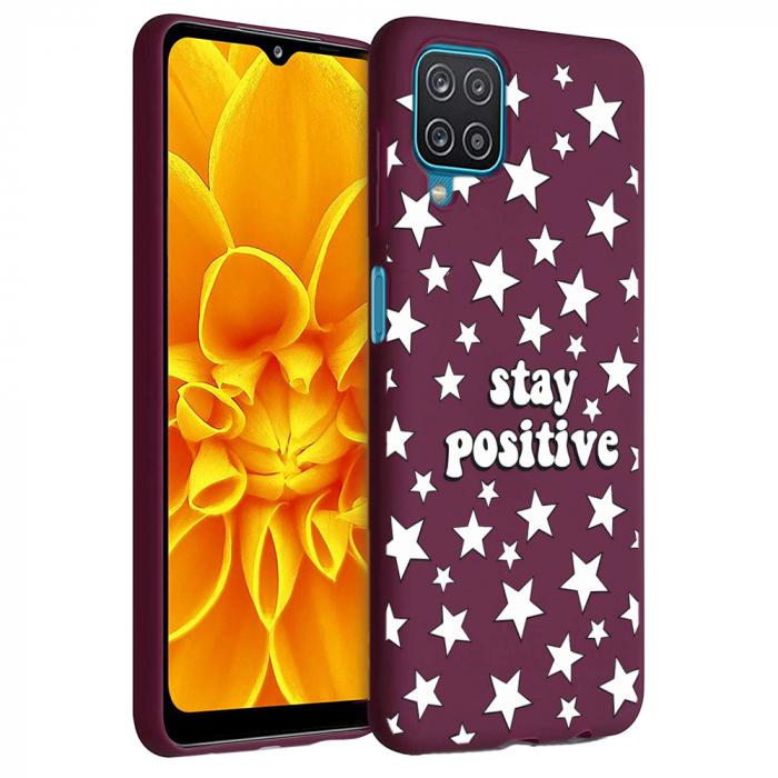 Husa Samsung Galaxy A12 - A42  - Silicon Matte - Stay Positive 2 [6]