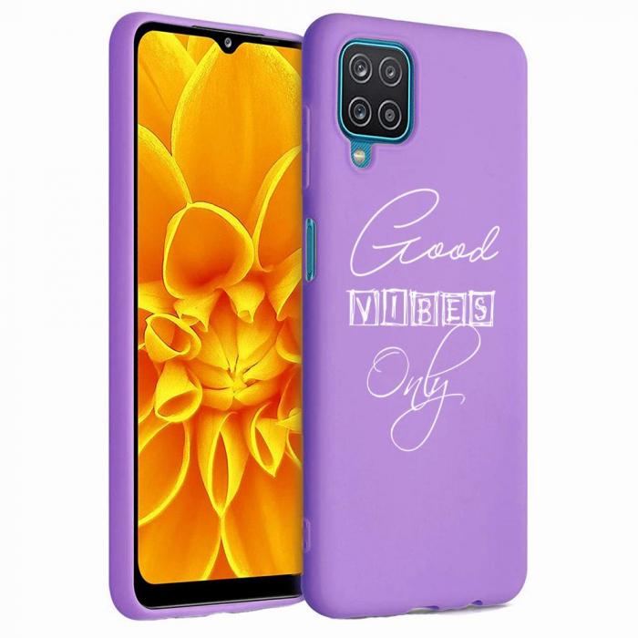 Husa Samsung Galaxy A12 - A42  - Silicon Matte - Good Vibes [4]