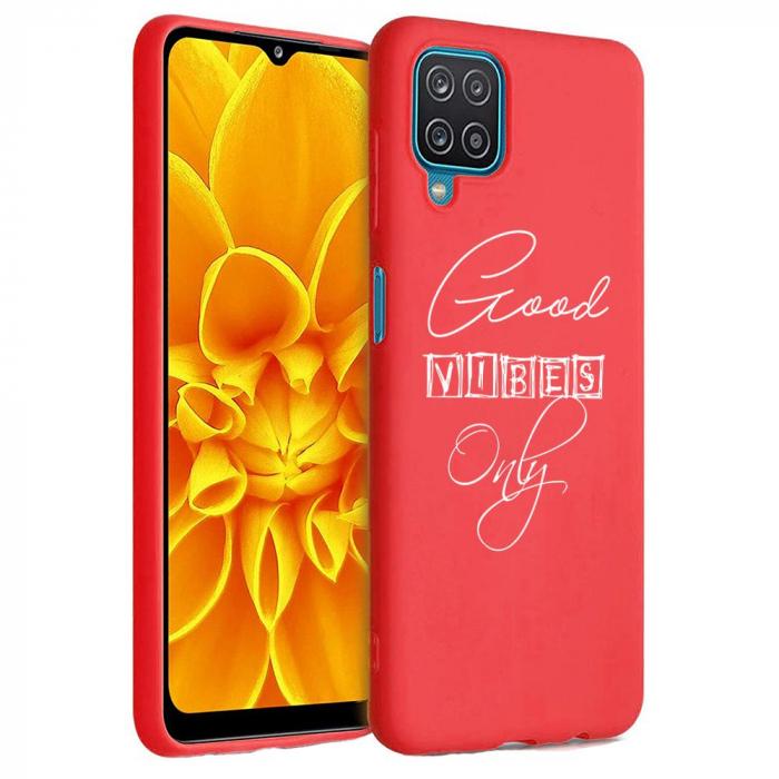 Husa Samsung Galaxy A12 - A42  - Silicon Matte - Good Vibes [6]