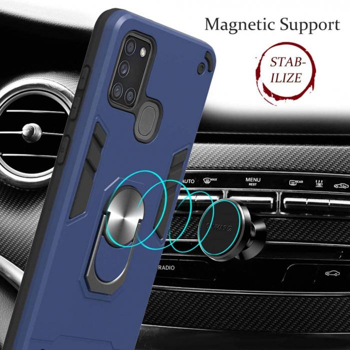 Husa Samsung Galaxy A21S Hybrid Ring Kickstand - negru [2]