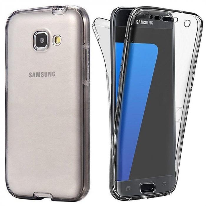 Husa  Samsung Galaxy A3 2017 Silicon TPU 360 grade - fumuriu 0