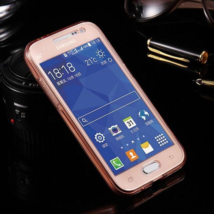 Husa  Samsung Galaxy A3 2017 Silicon TPU 360 grade - roz 1