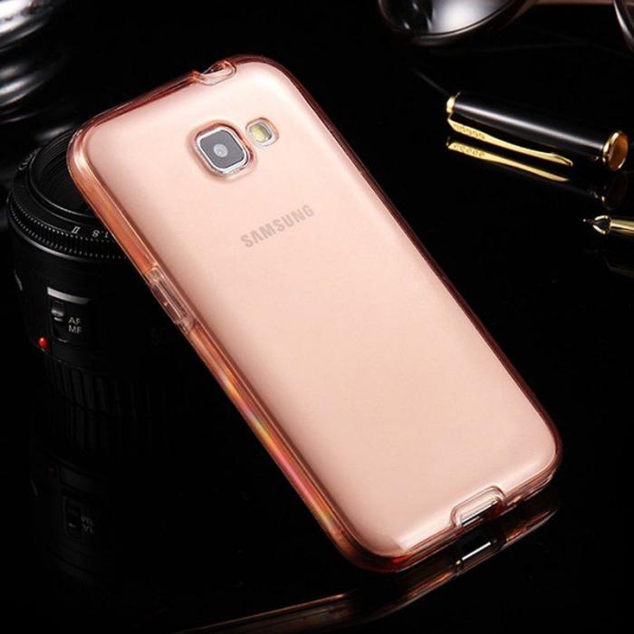 Husa  Samsung Galaxy A3 2017 Silicon TPU 360 grade - roz 2