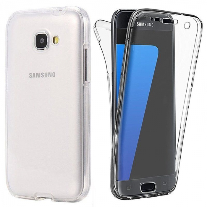 Husa  Samsung Galaxy A3 2017 Silicon TPU 360 grade - transparent 0