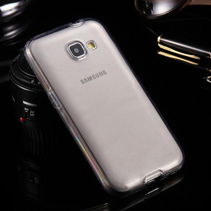 Husa  Samsung Galaxy A3 2017 Silicon TPU 360 grade - fumuriu 1