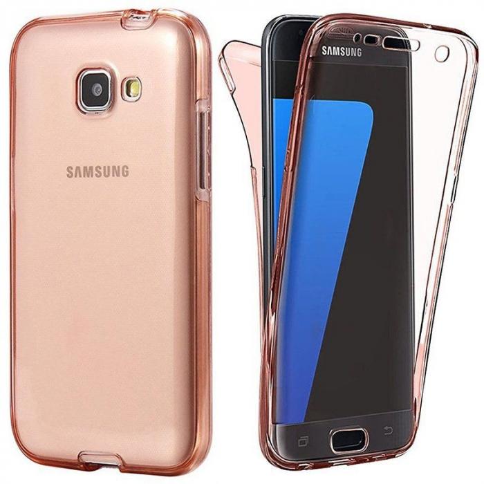 Husa  Samsung Galaxy A3 2017 Silicon TPU 360 grade - roz 0