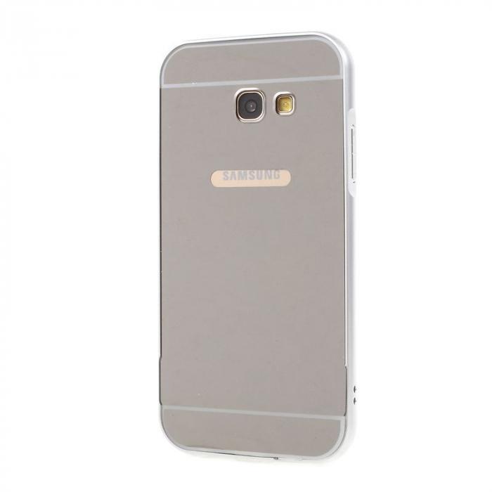 Husa  Samsung Galaxy A5 2017 (A520F) Bumper Metalic - argintiu 0