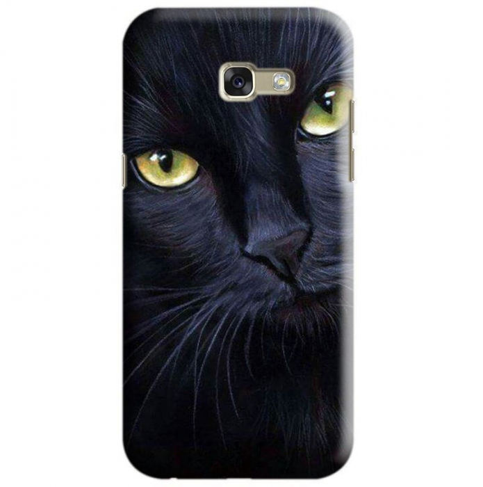 Husa Samsung Galaxy A5 2017 Custom Hard Case Black Cat 0