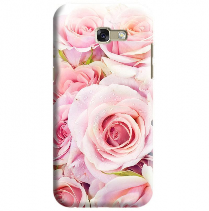 Husa Samsung Galaxy A5 2017 Custom Hard Case Fresh Pink Roses 0