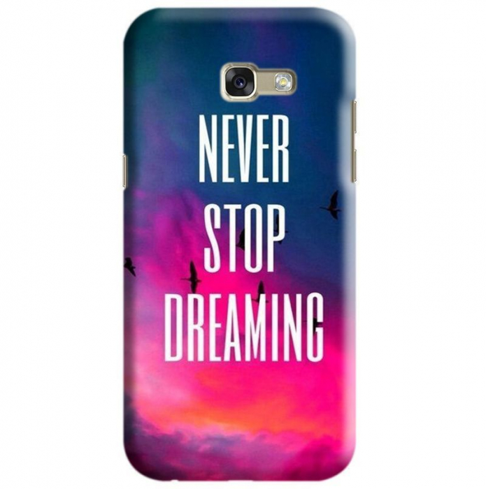 Husa Samsung Galaxy A5 2017 Custom Hard Case Never Stop 0