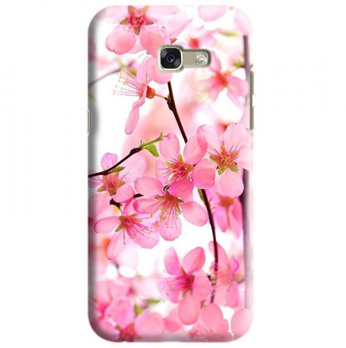 Husa Samsung Galaxy A5 2017 Custom Hard Case Pink Flowers 0