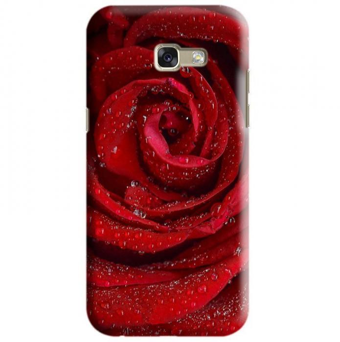 Husa Samsung Galaxy A5 2017 Custom Hard Case Red Rose [0]