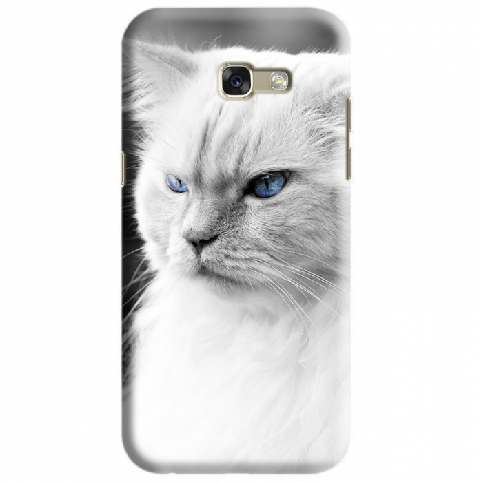 Husa Samsung Galaxy A5 2017 Custom Hard Case White Cat 0