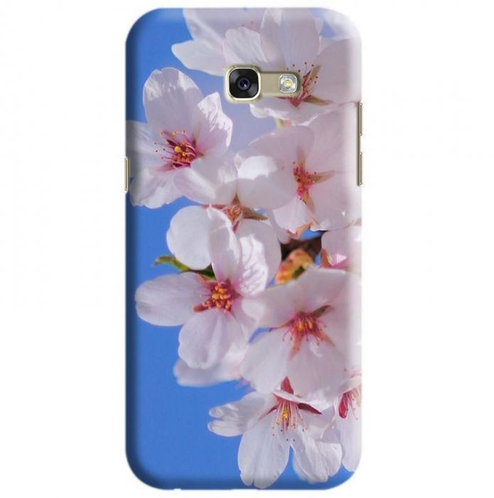 Husa Samsung Galaxy A5 2017 Custom Hard Case White Flowers 0