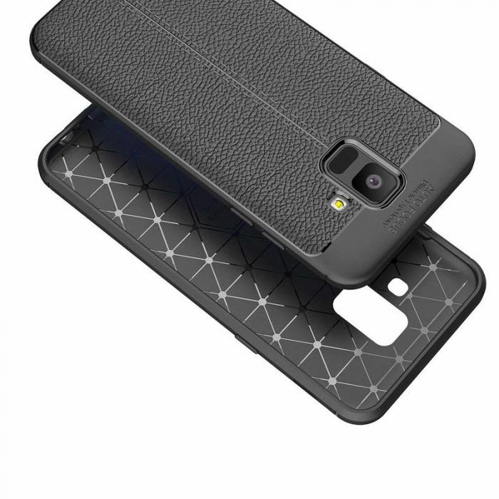Husa  Samsung Galaxy A6 (2018) - Silicon Tpu Brused Grain - rosu 4