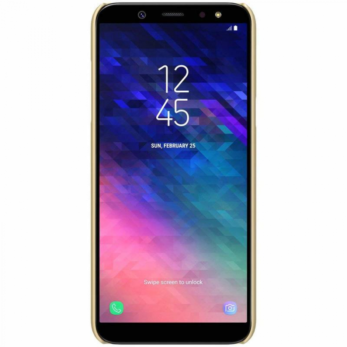 Husa   Samsung Galaxy  A6 Plus (2018) Nillkin Frosted Shield - gold 4