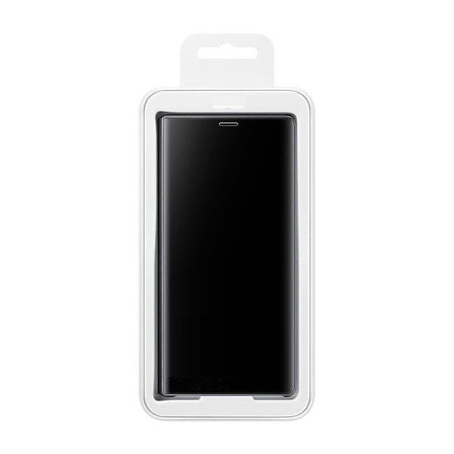 Husa Samsung Galaxy A70 – Flip Clear View – Negru 4