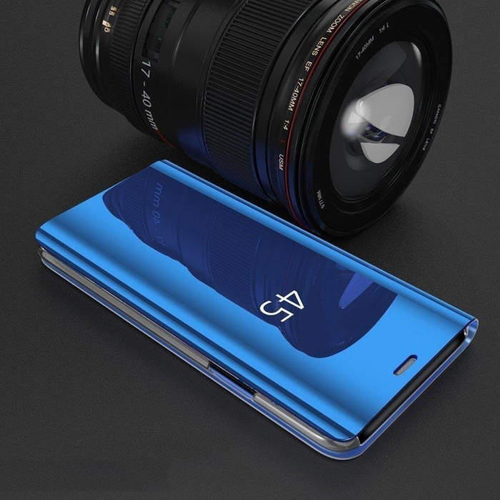 Husa Samsung Galaxy A70 – Flip Clear View – Negru 1