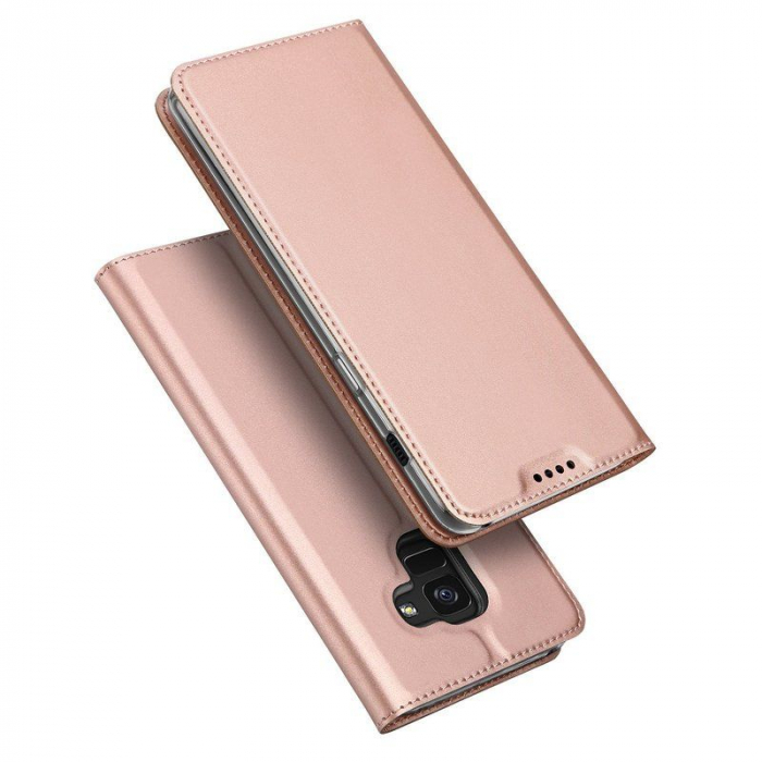 Husa  Samsung Galaxy A8 (2018) - Dux Ducis din piele eco - rose gold 2