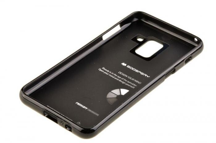Husa Samsung Galaxy A8 2018 Mercury Jelly Case TPU  - negru 3