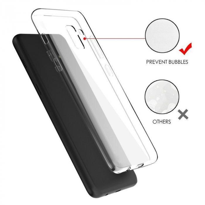 Husa Samsung Galaxy A8 2018 Soft TPU 0.8 mm - transparent 4