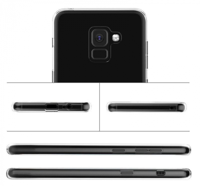 Husa Samsung Galaxy A8 2018 Soft TPU 0.8 mm - transparent 3