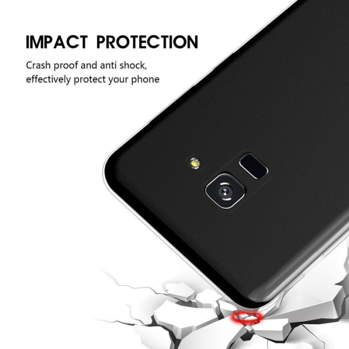 Husa Samsung Galaxy A8 2018 Soft TPU 0.8 mm - transparent 5