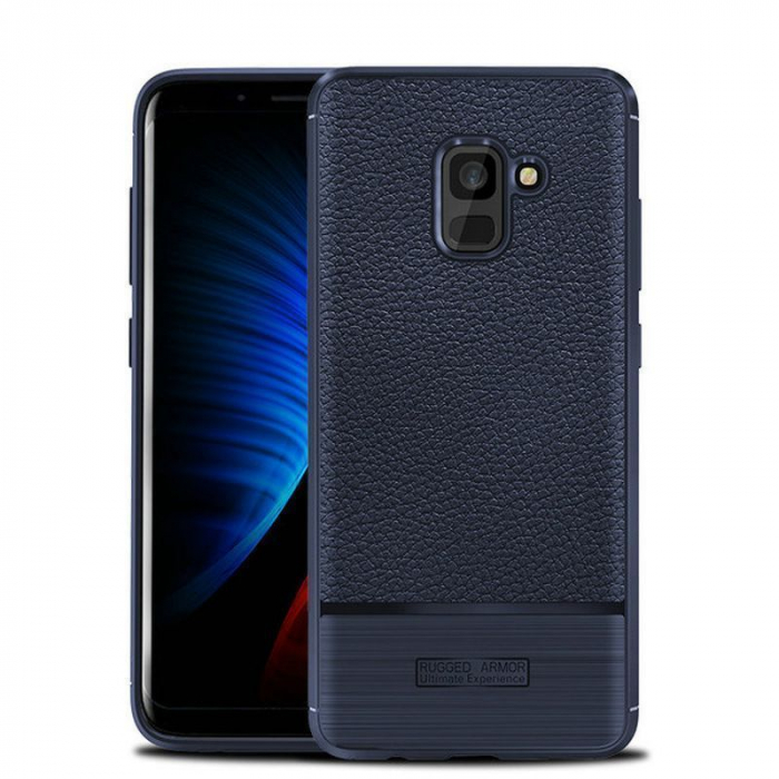 Husa  Samsung Galaxy A8 (2018) - Tpu Brused Grain - albastru 0