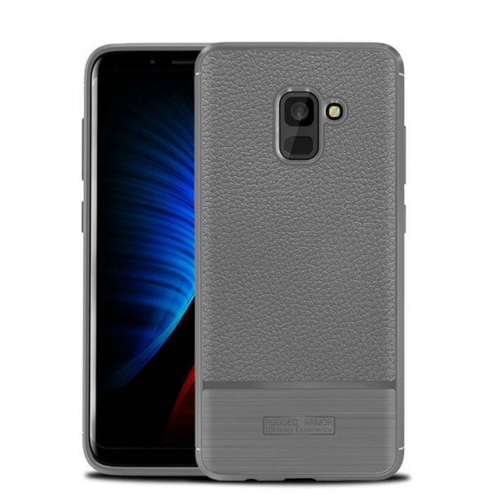 Husa  Samsung Galaxy A8 (2018) - Tpu Brused Grain - gri 0