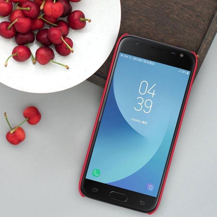 Husa Samsung Galaxy J3 2017 - Nillkin Frosted Shield - rosu 6