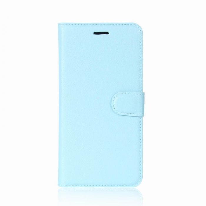 Husa Samsung Galaxy J5 2017 - Crazy Horse din piele eco - albastru 0