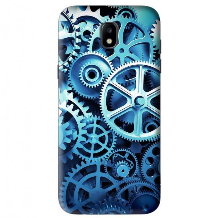Husa Samsung Galaxy J5 2017 Custom Hard Case Blue Gear 0