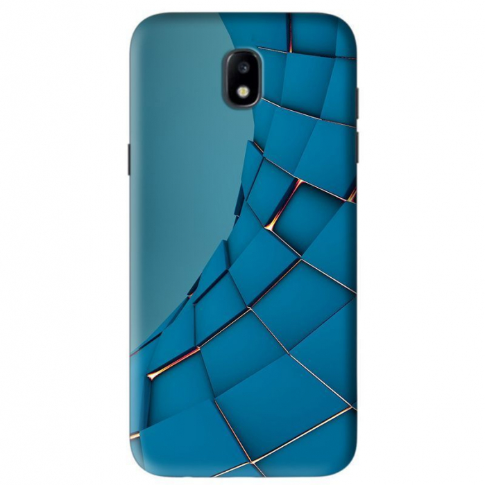 Husa Samsung Galaxy J5 2017 Custom Hard Case Blue Square 0