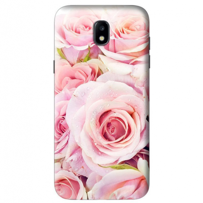 Husa Samsung Galaxy J5 2017 Custom Hard Case Fresh Pink Flowers 0
