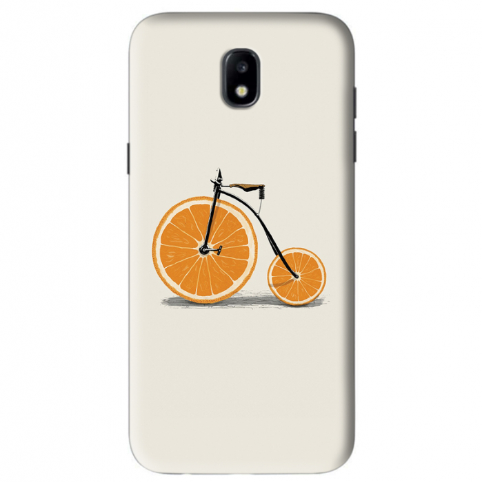 Husa Samsung Galaxy J5 2017 Custom Hard Case Orange Bicycle 0