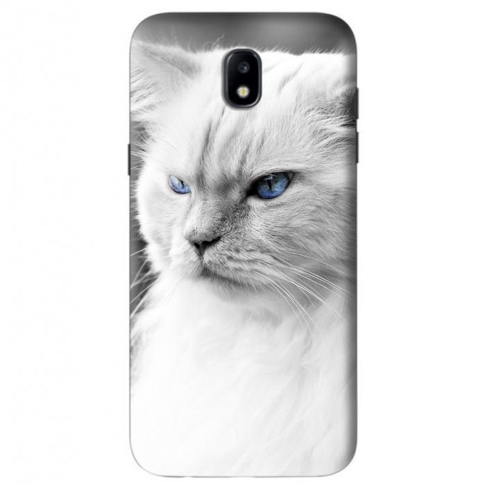 Husa Samsung Galaxy J5 2017 Custom Hard Case White Cat 0