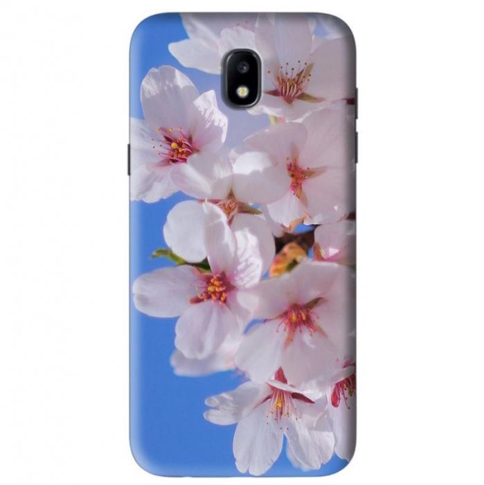 Husa Samsung Galaxy J5 2017 Custom Hard Case White Flowers 0