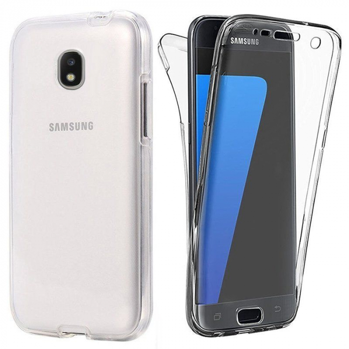 Husa  Samsung Galaxy J5 2017 Silicon TPU 360 grade - transparent 0