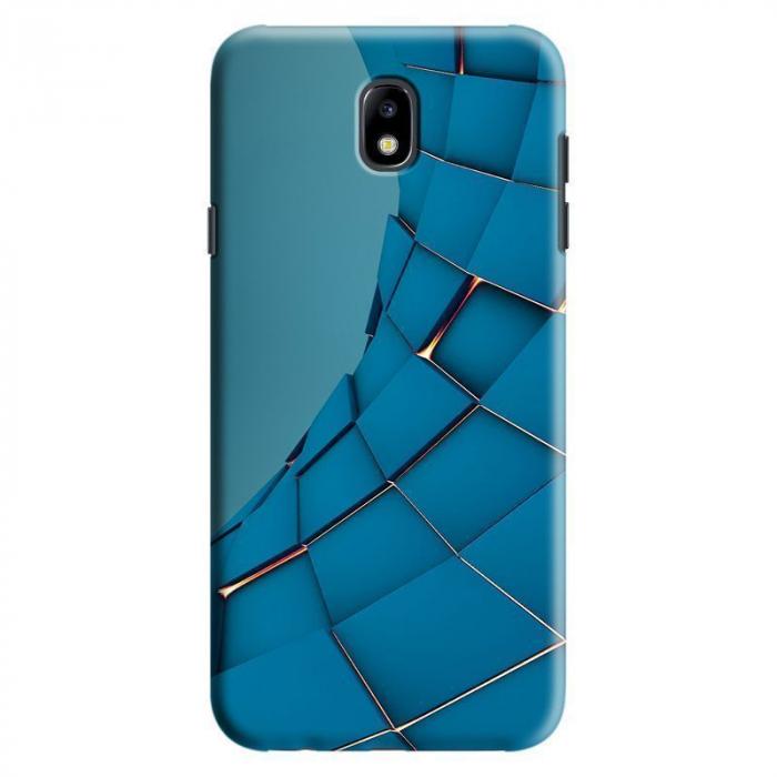Husa Samsung Galaxy J7 2017 - Custom Hard Case Blue Squares 0