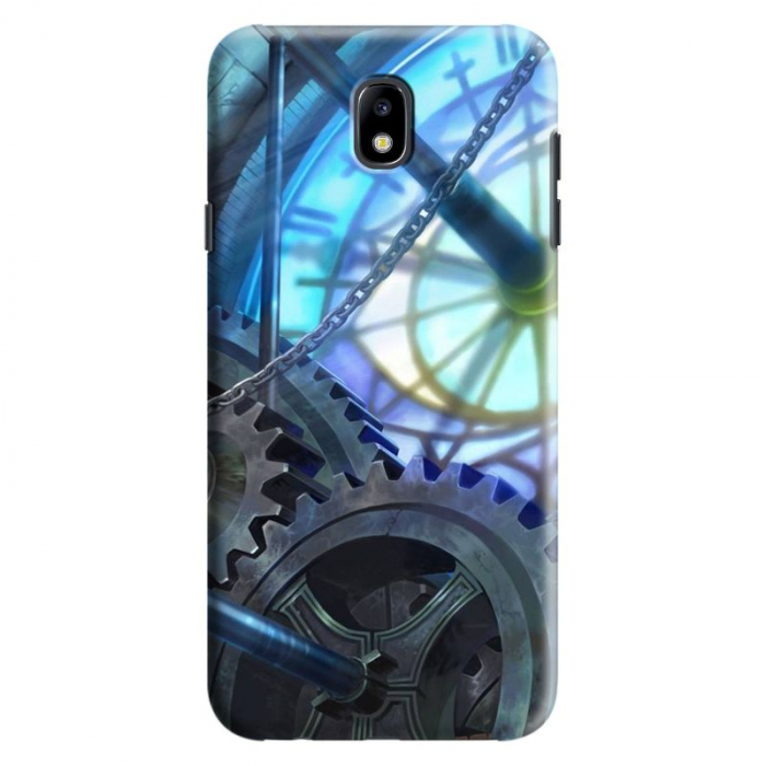 Husa Samsung Galaxy J7 2017 - Custom Hard Case Blue Steampunk 0
