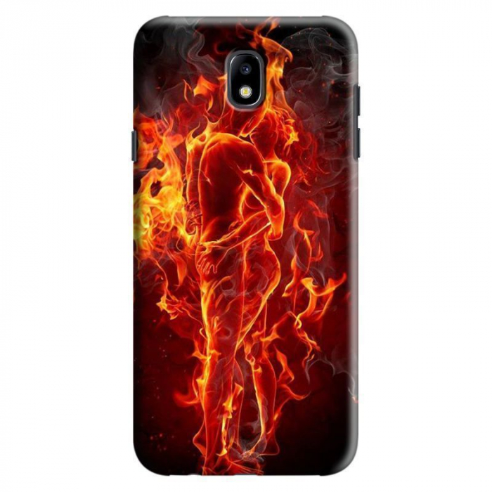 Husa Samsung Galaxy J7 2017 - Custom Hard Case Burning Love 0