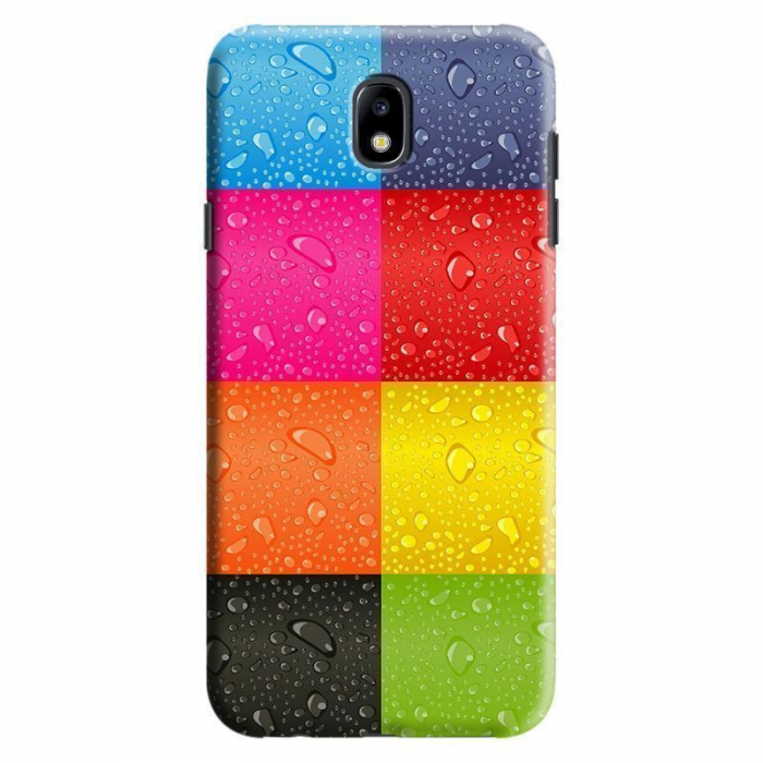 Husa Samsung Galaxy J7 2017 - Custom Hard Case Colorful Blocks 0