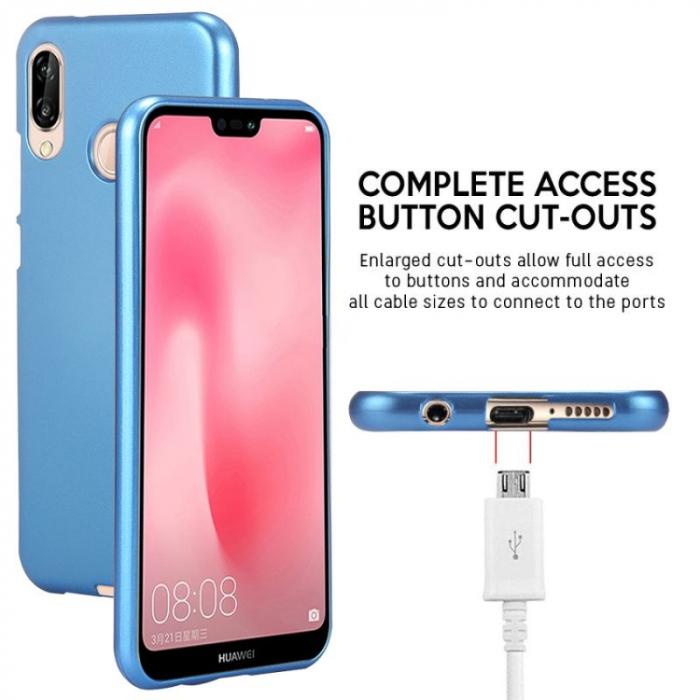 Husa   Silicon Huawei P20 Lite Goospery Mercury i-Jelly - albastru 6