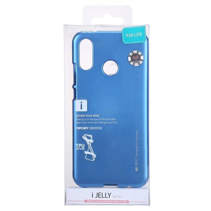 Husa   Silicon Huawei P20 Lite Goospery Mercury i-Jelly - albastru 5