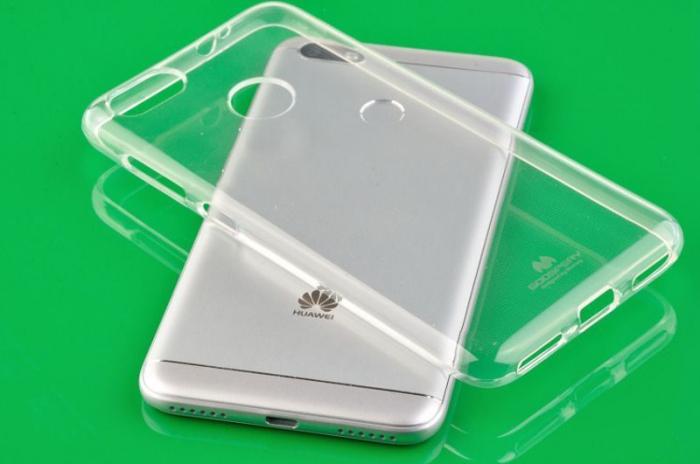Husa Silicon Huawei P9 Lite Mini Goospery Mercury Jelly Case - transparent 3
